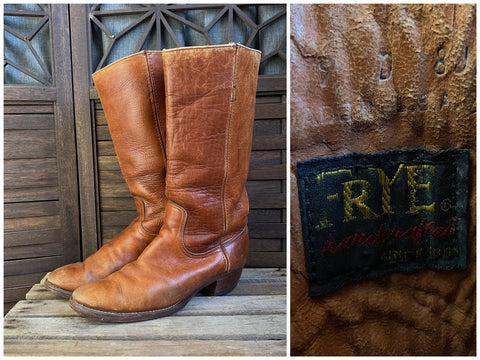 70's Frye Boots with Black Label, Men's Size 9D