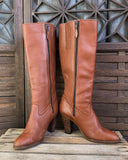 Knee High Leather Boots, Size 6