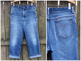 "Lightly Distressed Jeans from 1970's, Size 32"" x 26"""