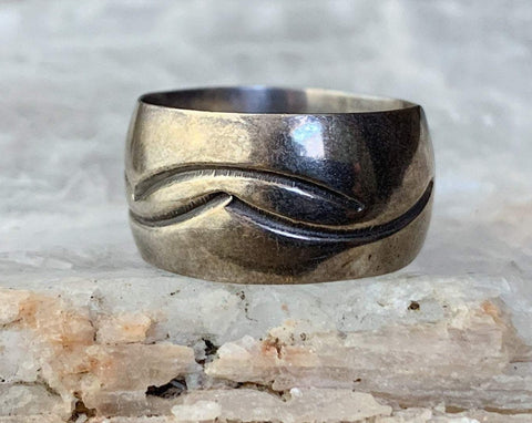 Sterling Silver Wide Band Ring, Size 7