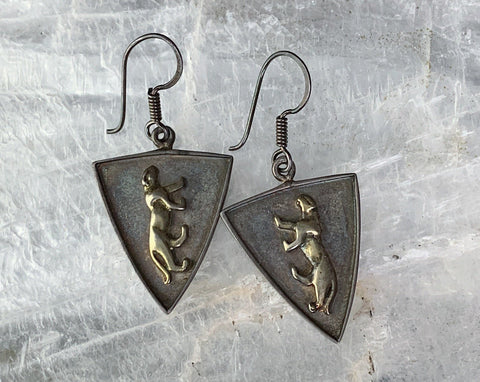 Sterling Panther Earrings