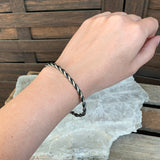 Sterling Twisted Wire Bangle Bracelet