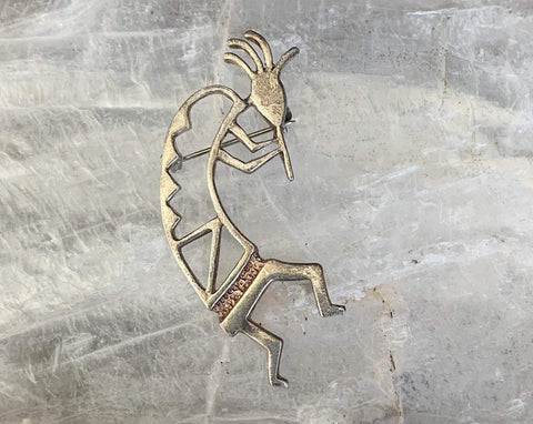 Sterling Silver Kokopelli Pin