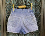 "Barn Found Distressed Denim Shorts, 23"" Waist"