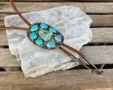 Huge Turquoise Nugget Bolo Tie