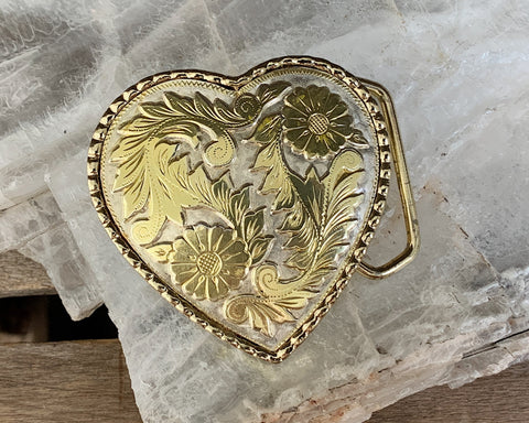 Ornate Heart Belt Buckle