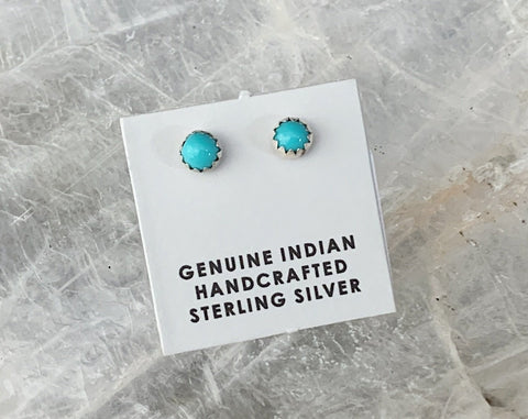 Sterling Turquoise Post Earrings