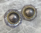 Taxco Sterling Domed Concho Earrings