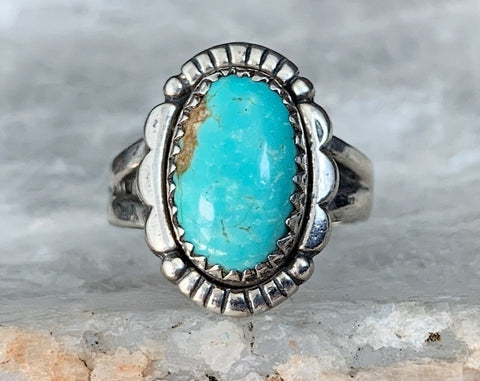 Sterling Turquoise Ring by Bell Trading, Size 3.25