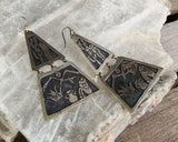 GIGANTIC! Mexican Sterling Storyteller Earrings