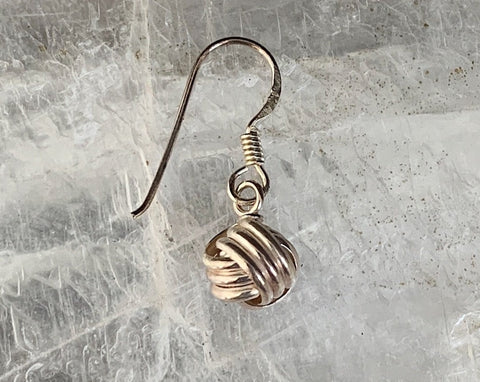 Knotted Sterling Single Earring