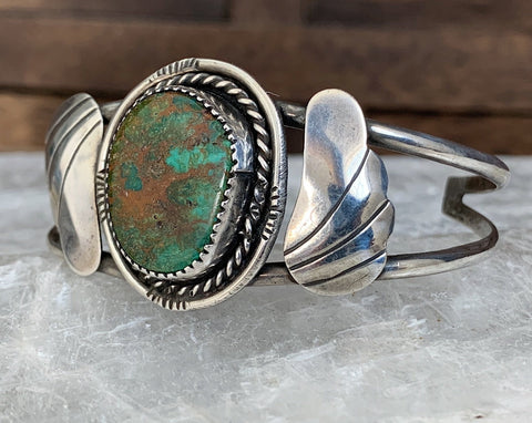 Sterling Turquoise Navajo Cuff Bracelet