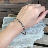 Thick Sterling Bangle Bracelet by Silpada