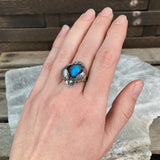 Sterling Navajo Turquoise Ring, Size 5.75