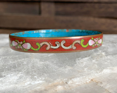 Copper Cloisonné Enamel Bangle