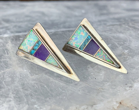 Sterling Inlay Earrings by Supersmith