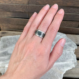 Sterling Taxco Inlay Band Ring, Size 5