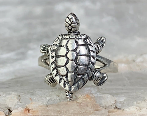 Sterling Articulated Turtle Ring, Multiple Sizes