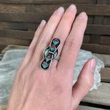 Sterling Zuni Inlay Ring, Size 6