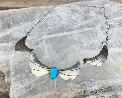 Sterling Turquoise Navajo Necklace
