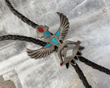 Sterling Inlay Knifewing Bolo Tie