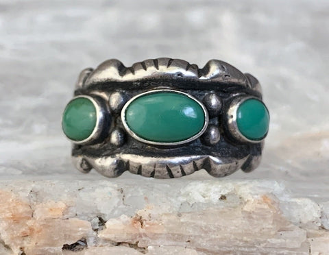 Sterling Turquoise Ring by Maisels Trading Post, Size 8.25