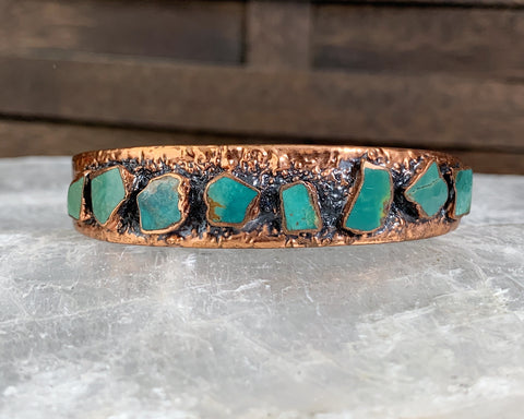 Copper Turquoise Cuff by Bell Trading from the Corinthian Line