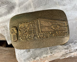 Brass Trucker Belt Buckle