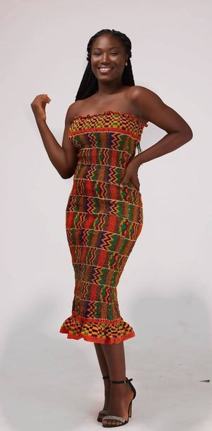 Load image into Gallery viewer, Fifa Kente Dress