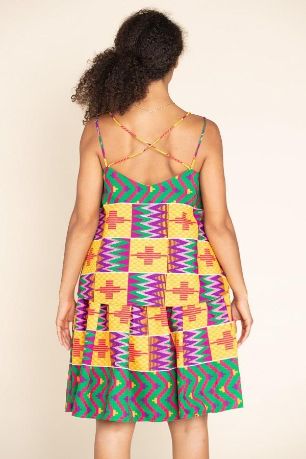 Load image into Gallery viewer, African Print Bali Midi Skirt