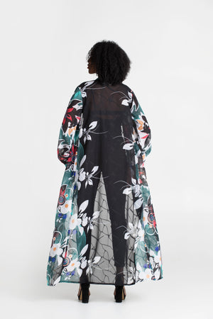 Load image into Gallery viewer, Long Sleeve Band Kimono