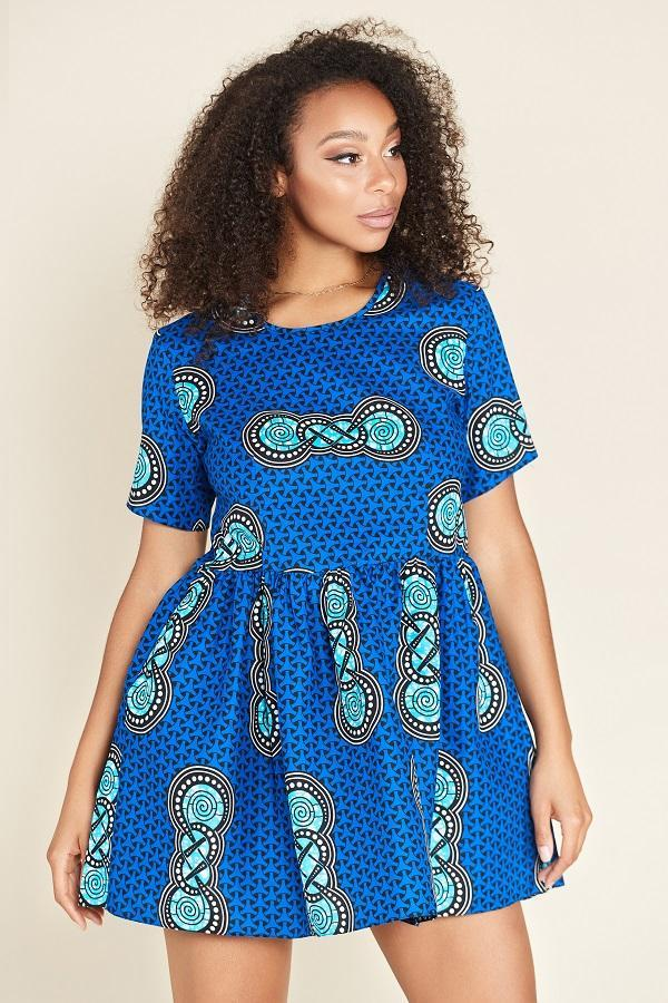 Load image into Gallery viewer, African Print Binti Dress
