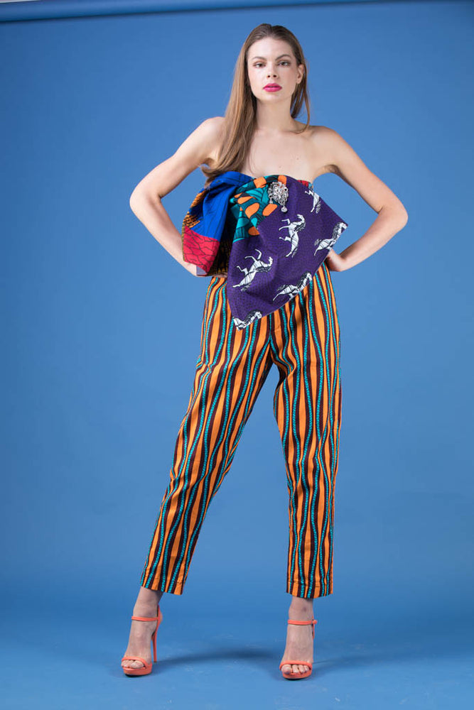 Load image into Gallery viewer, Ankara Cigarette Trousers