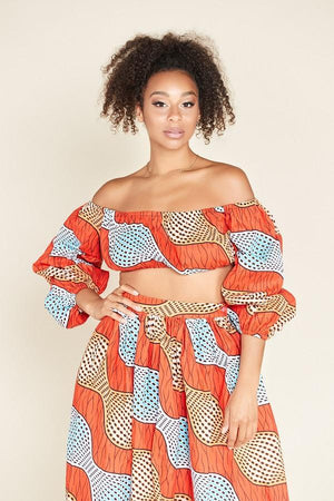 Load image into Gallery viewer, African Print Dada Crop Top