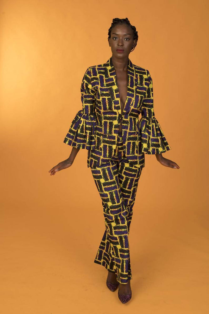 Load image into Gallery viewer, Ankara Single A-line Trousers