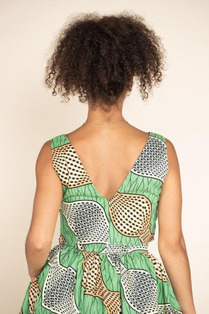 African Print Kayak Crop Top
