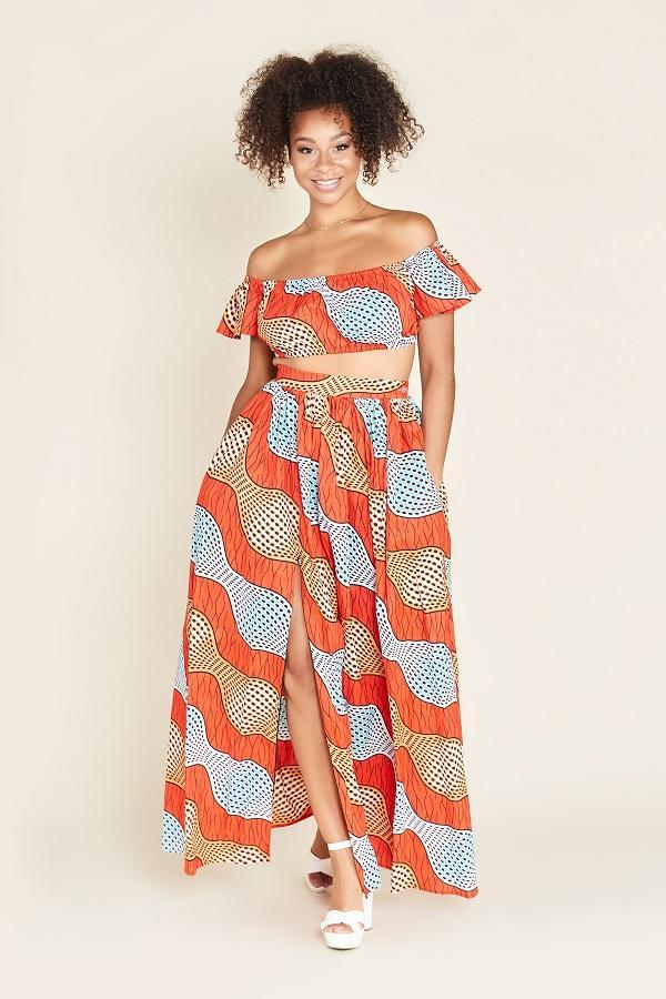 Load image into Gallery viewer, African Print Malika Maxi Skirt
