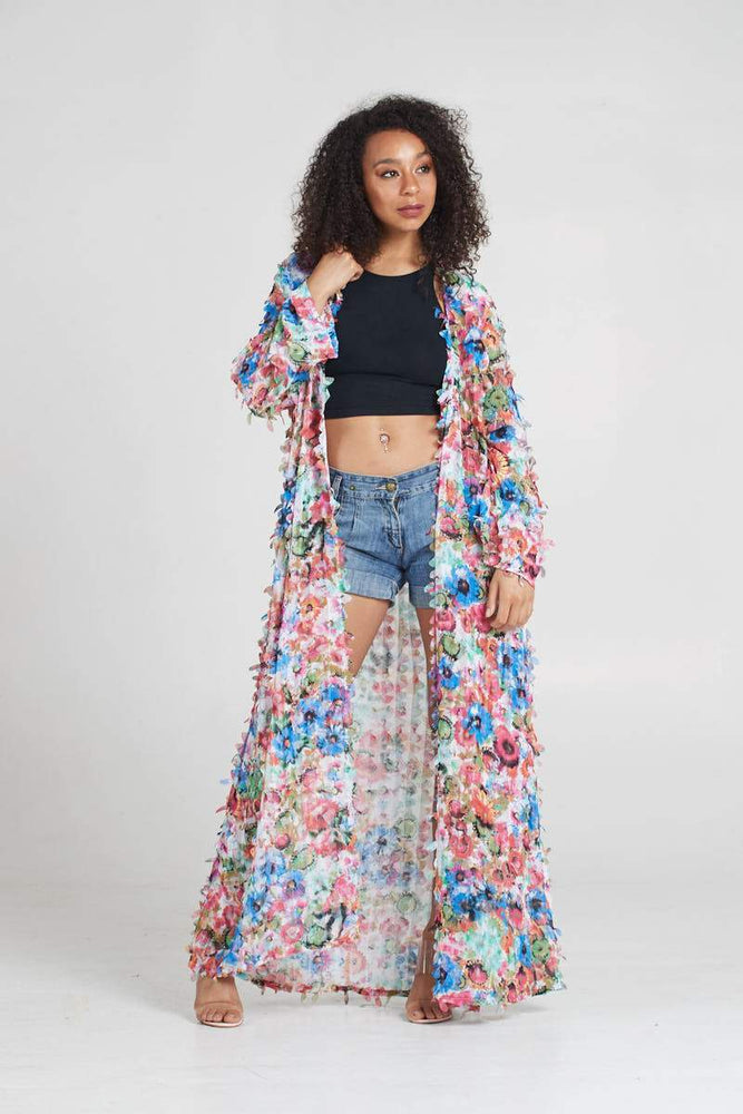 Load image into Gallery viewer, Maxi Duster Floral Kimono