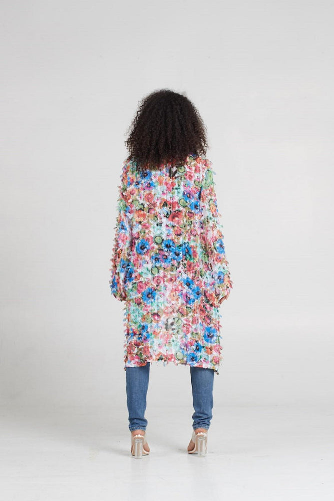 Load image into Gallery viewer, Duster Floral Kimono Satwa