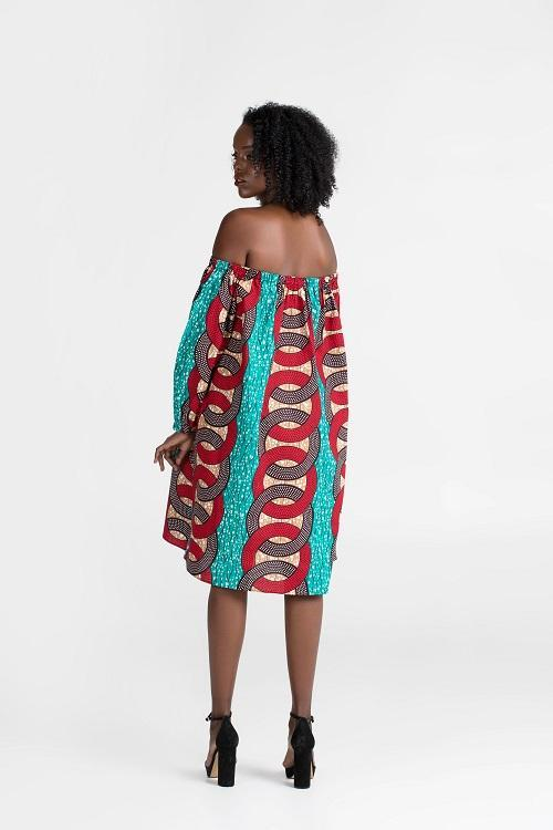 Load image into Gallery viewer, Off Shoulder Wema Dress