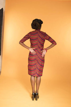 Ankara Double Breasted Suit Dress