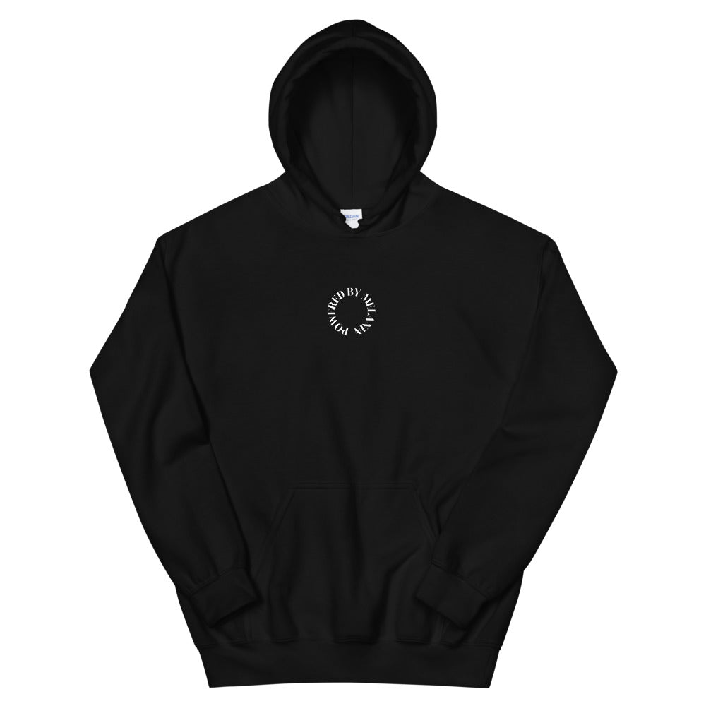 Load image into Gallery viewer, Black 'Powered by Melanin' Hoodie