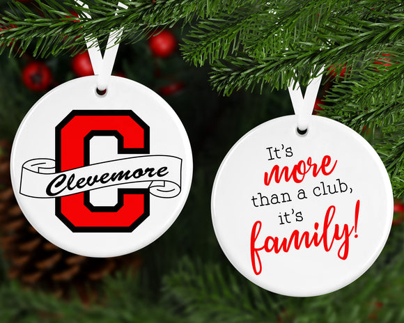 Clevemore Logo Two Sided Ornament