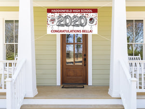 Personalized Haddonfield Graduation Banner