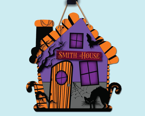 Haunted House - Purple & Orange