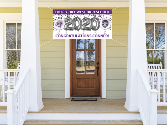 Personalized CH West Graduation Banner