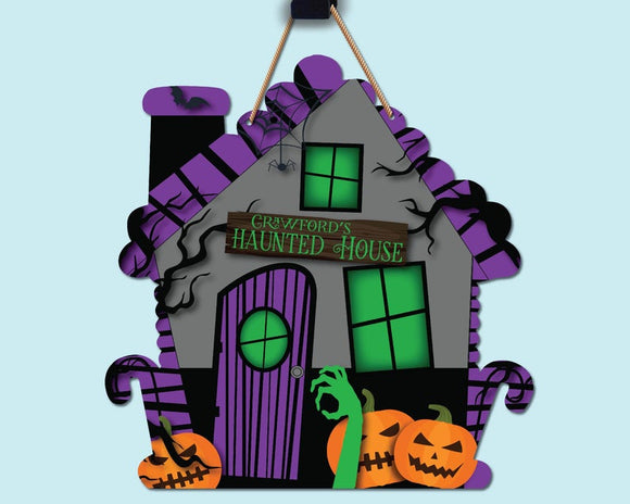 Haunted House - Grey & Purple