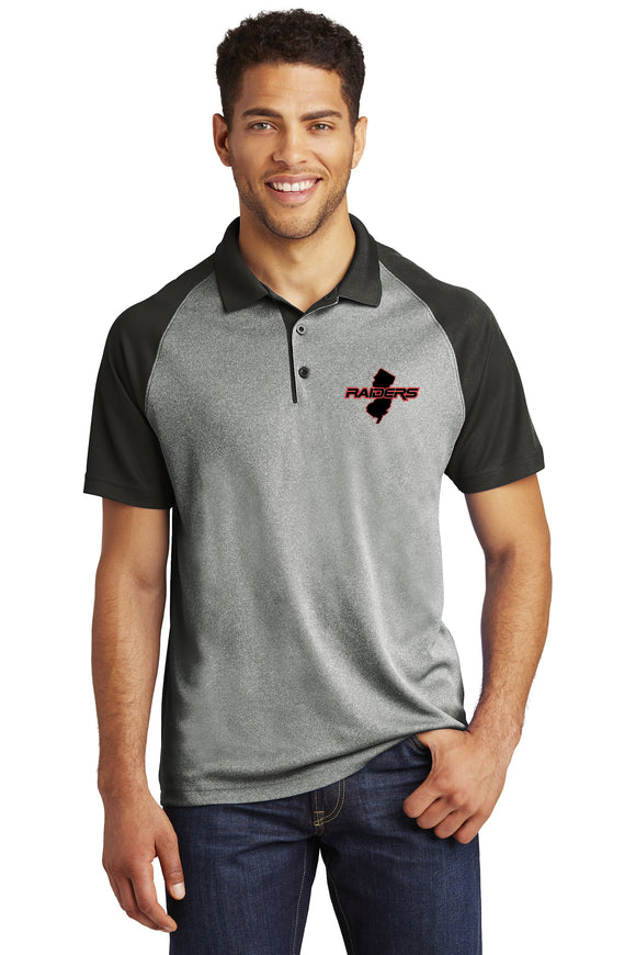 Raiders Raglan Heather Block State Polo