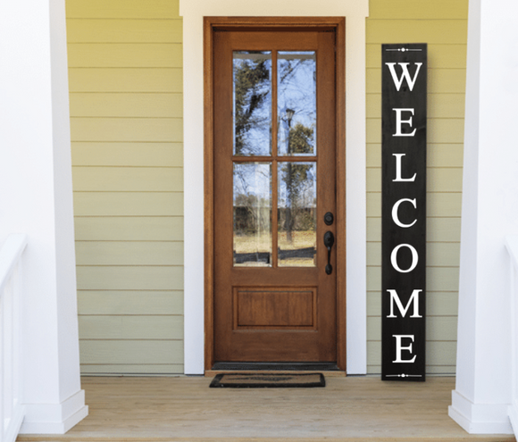 Welcome Hand Stained Porch Sign