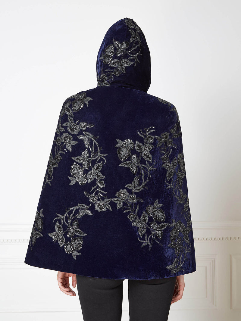 Elba Short Hooded Cape